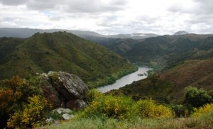 A juzante da barragem da Bemposta