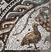 Outono-ruínas romanas pisões mosaicos