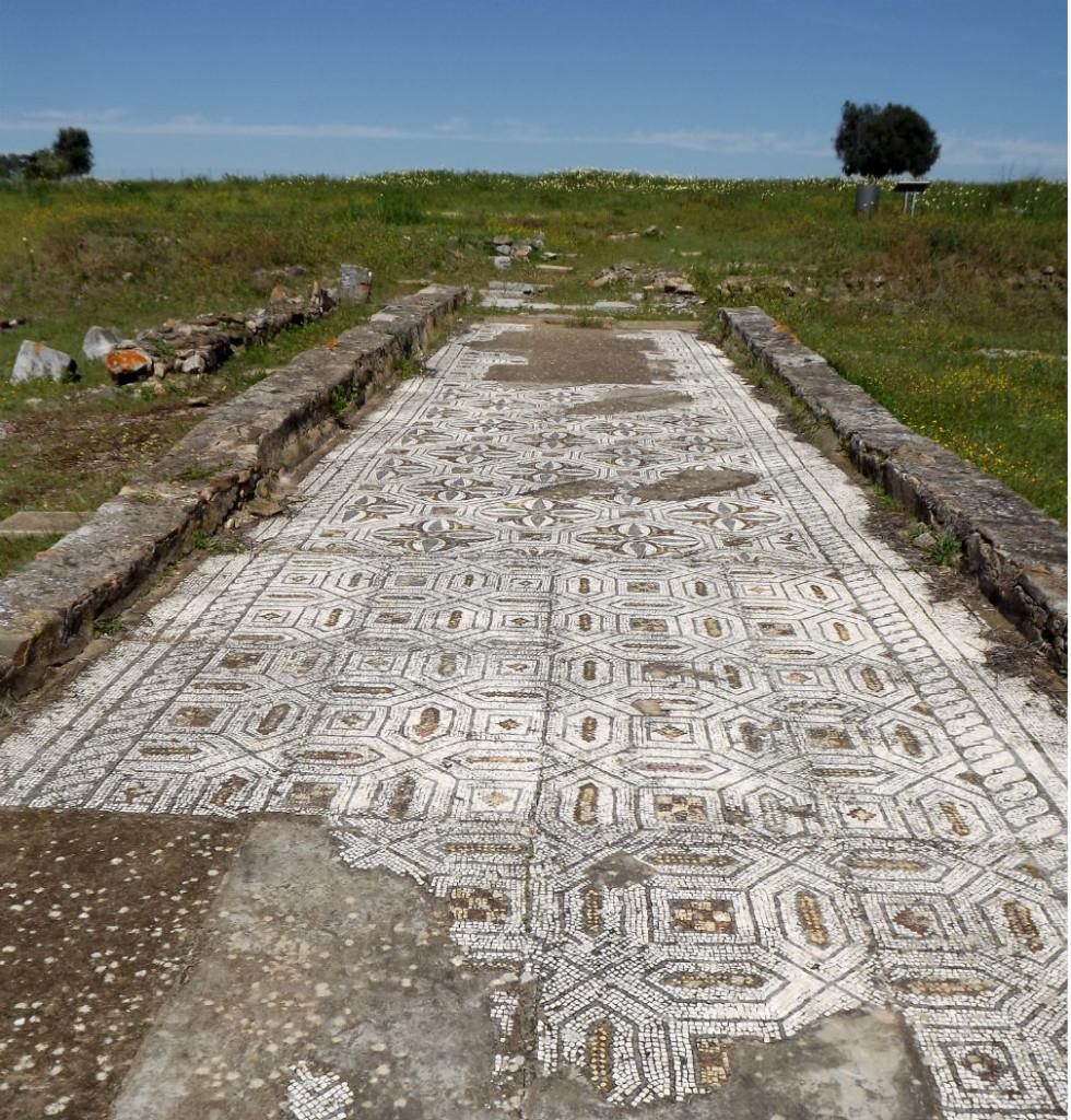 ruínas romanas pax julia mosaicos