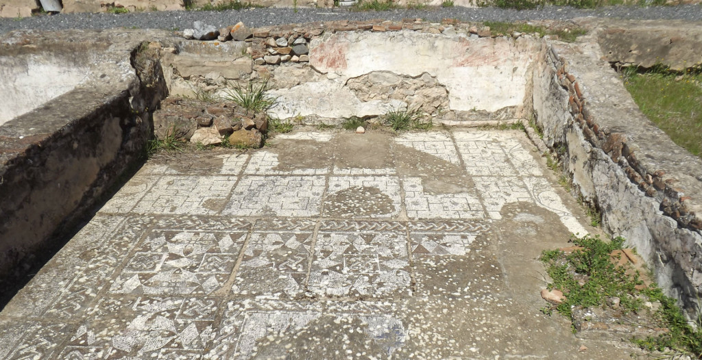 ruínas romanas pisões frescos