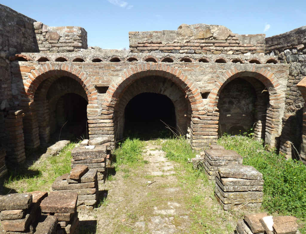 ruines romaines STOMPS pax julia hypocauste