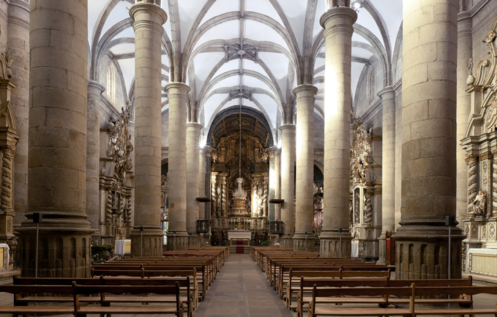 Interior of the church of Moncorvo tower array