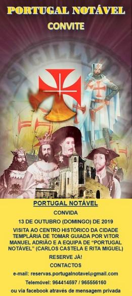 Convite- Visita a Tomar Templário pelo professor Vitor Manuel Adrião